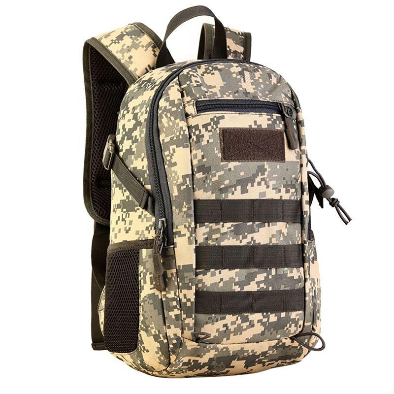12l мини-рюкзак Военная Униформа molle рюкзак Шестерни Тактический Нападение Пакет студент школьная сумка для путешествий Кемпинг походы