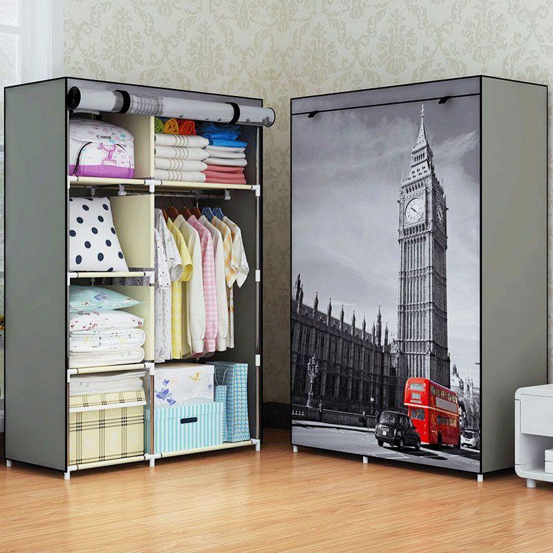 Modern minimalist home creative art bedroom furniture portable closets non-woven multi-purpose storage cabinets wardrobe closets