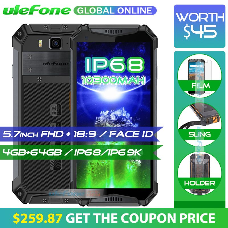 Ulefone Armor 3 IP68 Waterproof Mobile Phone 10300mAh 5.7