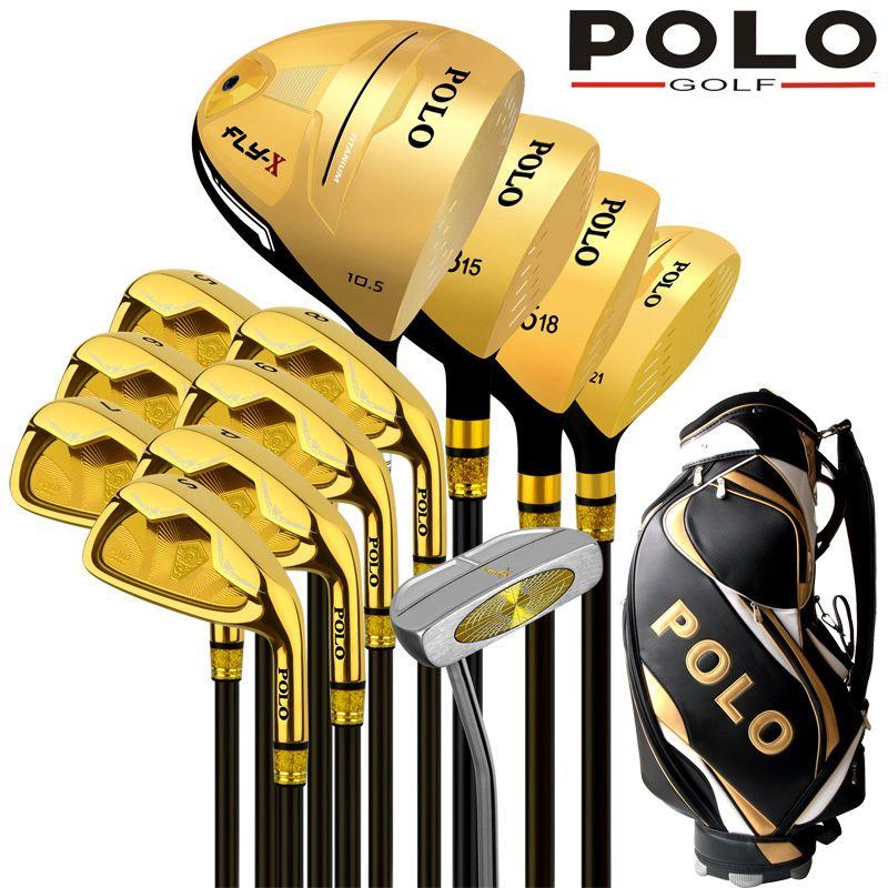 Collections POLO et tige en alliage de titane Gamer professionnel des clubs de golf de luxe pilote ensemble complet arbre en graphite de carbone
