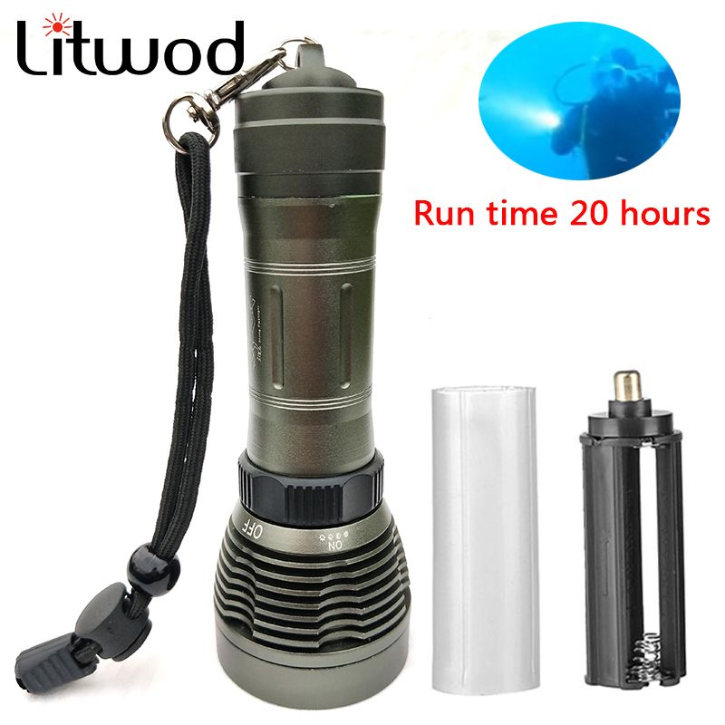 z90 led flashlight 5000LM XM-L T6 LED Underwater Diving under water 80m Flashlight IP8 Waterproof Torch Swimming Submarine