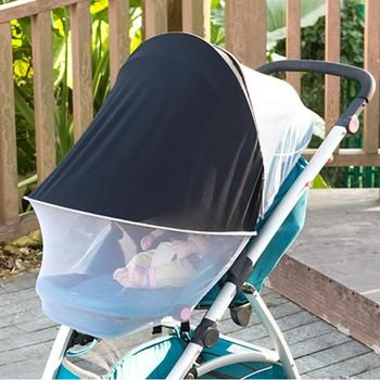 Baby Multifunction Stroller Universal Mosquito Net Sun Shade Anti-UV Foldable Mosquito Net Super UV Protection Sun Visor Canopy