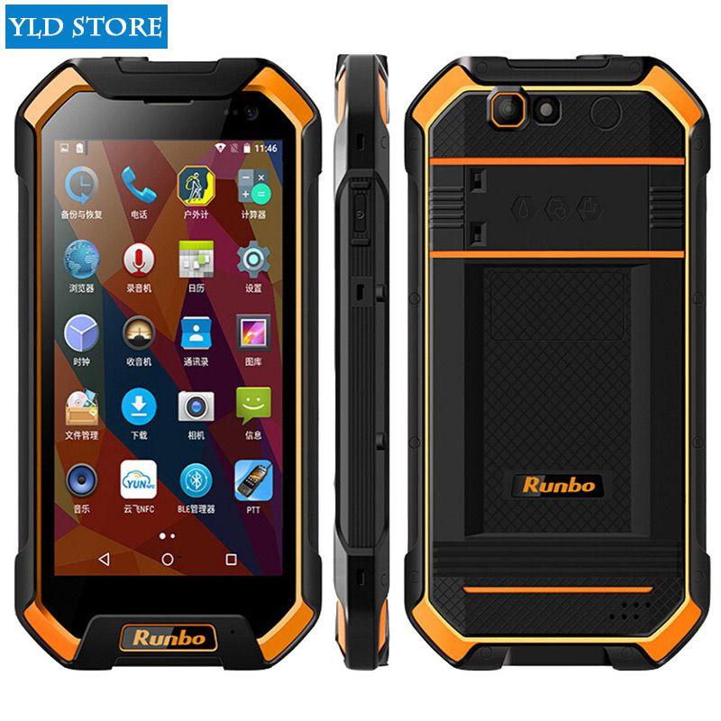 Original Runbo F1 Qual Core Waterproof Phone 5000MAH IP67 5.5inch 3G RAM Android Shockproof phone IP68 MTK6735 13.0MP Front 5MP