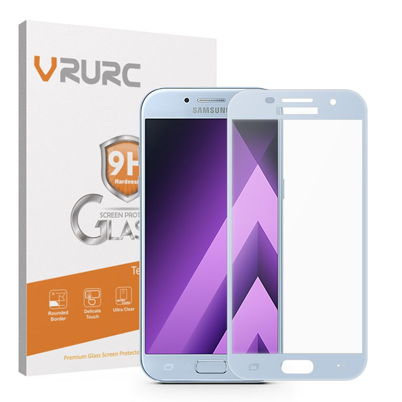 VRURC Tempered glass for Samsung Galaxy A3 A5 2017 A320F A320 SM-A520F A520 Screen protector 2.5D Full cover 9H Protective Film