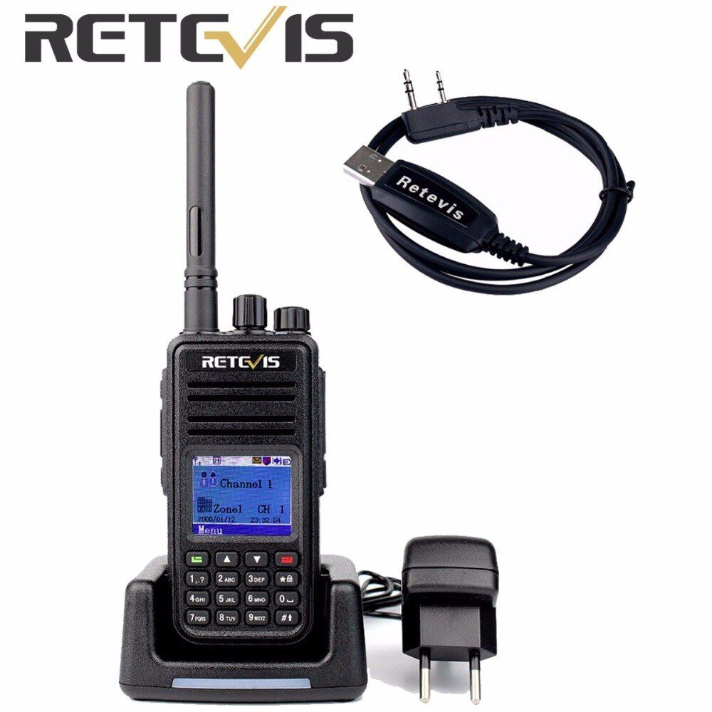 Retevis RT3 DMR Radio Digital Walkie Talkie 5W 1000CH UHF 400-480MHz DTMF Encrypted Professional Portable Two Way Radio A9110