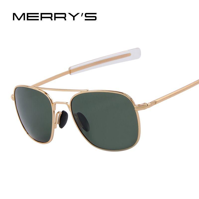 MERRY'S Fashion Men Polarized Sunglasses Brand Design Driving Sunglasses Alloy Rectangle Frame Oculos de sol