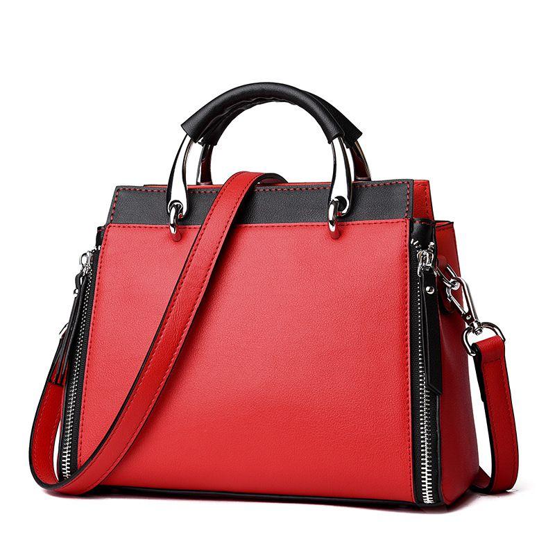 Personnalité élégante et audacieuse en cuir véritable designer femmes sacs à main de haute qualité hit couleur grand sac à bandoulière bolsa feminina