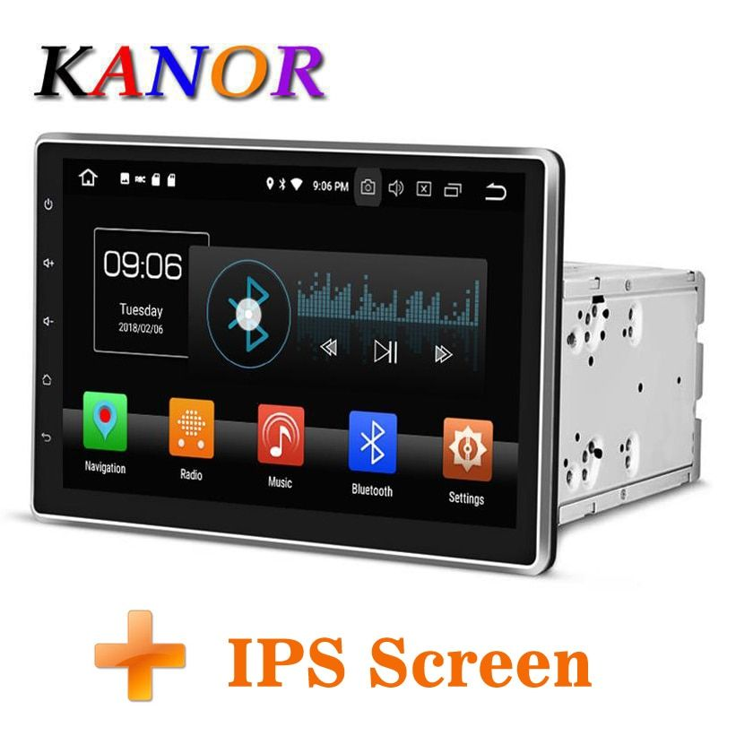 KANOR Android 8.0 Octa Core 4g 10.1 inch IPS Double 2 din Car GPS DVD Player Bluetooth Stereo Satnavi 2din Car Radio Multimedia