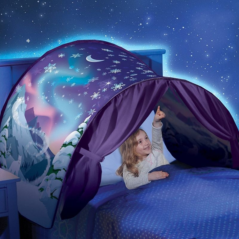 Kids Tents Baby Up Bed Tent Cartoon Snowy Foldable Playhouse Comforting At Night Sleeping Outdoor Camp Tipi