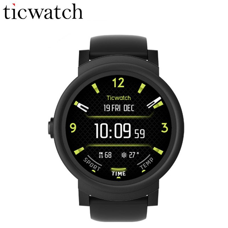 Original Ticwatch E Expres Smart Watch WIFI GPS Smartwatch Android Wear OS MT2601 Dual Core Bluetooth 4.1 Phone IP67 Waterproof