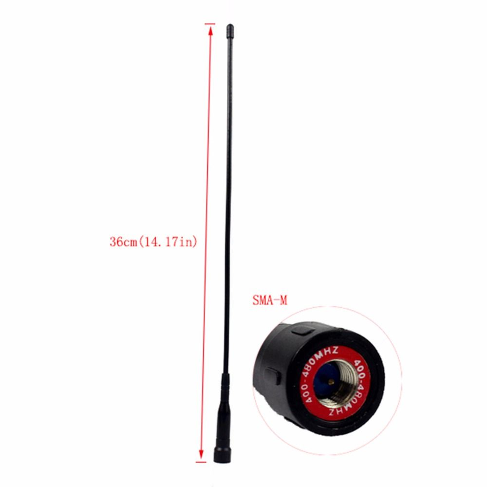 Original Retevis UHF 400-480MHz Long 14.17in SMA-M Antenna for Retevis RT1 RT8 Two Way Radio Walkie Talkie J9106