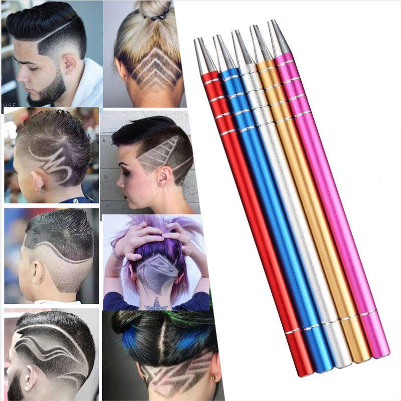 Nouveau professionnel magique graver barbe cheveux ciseaux copeaux sourcils rasoir tailler stylo ciseaux tatouage barbier coiffure ciseaux