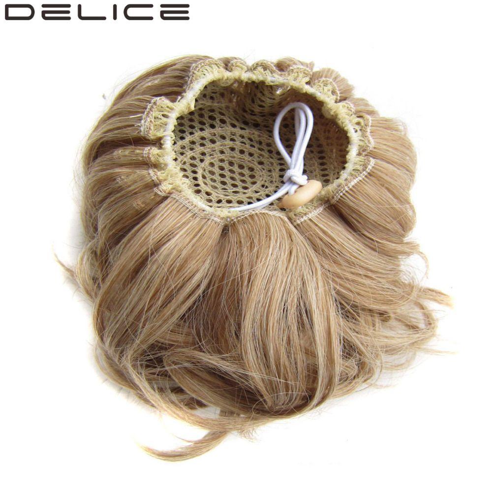 [DELICE] 60g/12 cm de Femmes Élastique Cordon Clip Dans Haute Température Fiber Synthétique Cheveux Bouclés Chignon