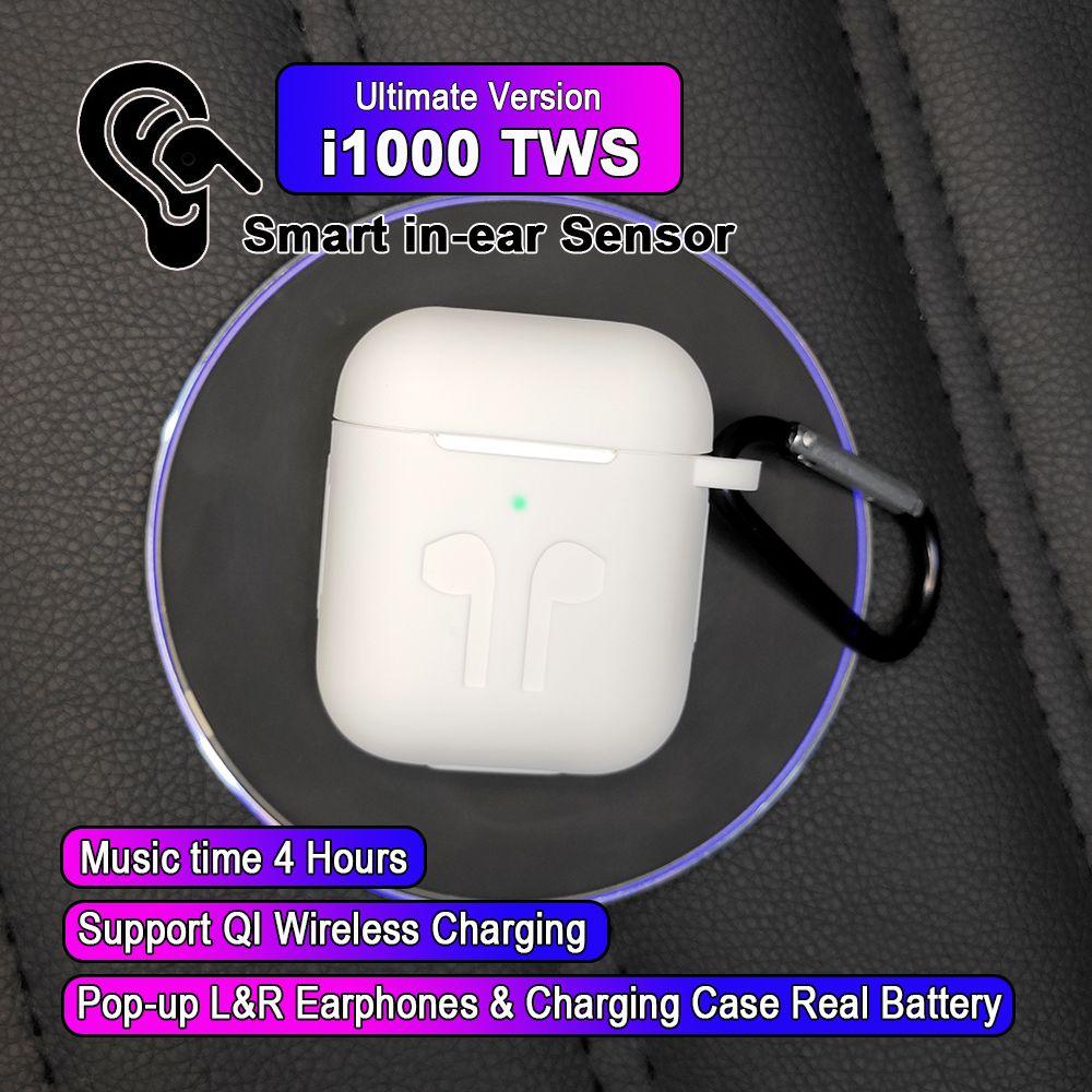 i1000 TWS In-ear Smart Sensor Wireless Earphone 8D Super Sound Earbuds Pop up Bluetooth 5.0 Earphones Pk i100 i200 i800 TWS