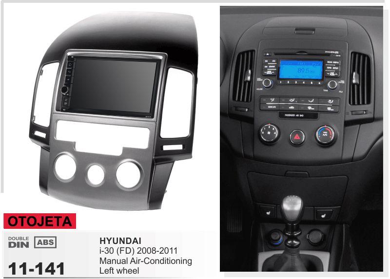 Navirider GPS Bluetooth stereo android 9.1 auto multimedia für Hyundai I30 Manuelle AC 2008-2011 Navigation auto radio + rahmen + kamera