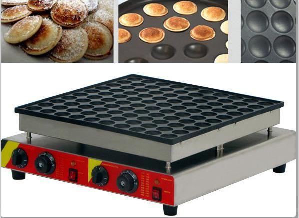 Free Shipping 100 Pcs Commercial Use 110v 220v Dutch Pancakes Maker Non-stick Poffertjes Maker Machine Mini Waffle Baker