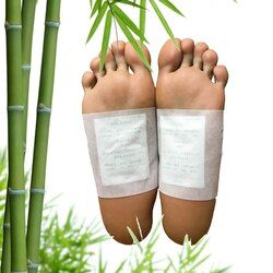 Hot Sale! 2pcs Kinoki Detox Foot Pad Patch Feet Care Body Massager Bamboo Herbal Plaster Stress Relief Better Sleep Health Care