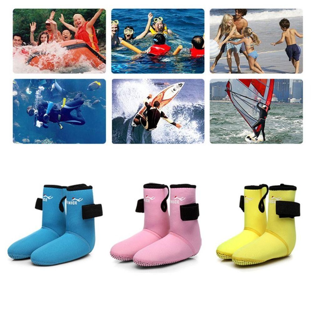 Children Diving Fin Socks Abrasion Resistant Snorkeling Shoes Diving Socks Beach Boots Wetsuit Prevent Scratch Non-Slip FreeShip