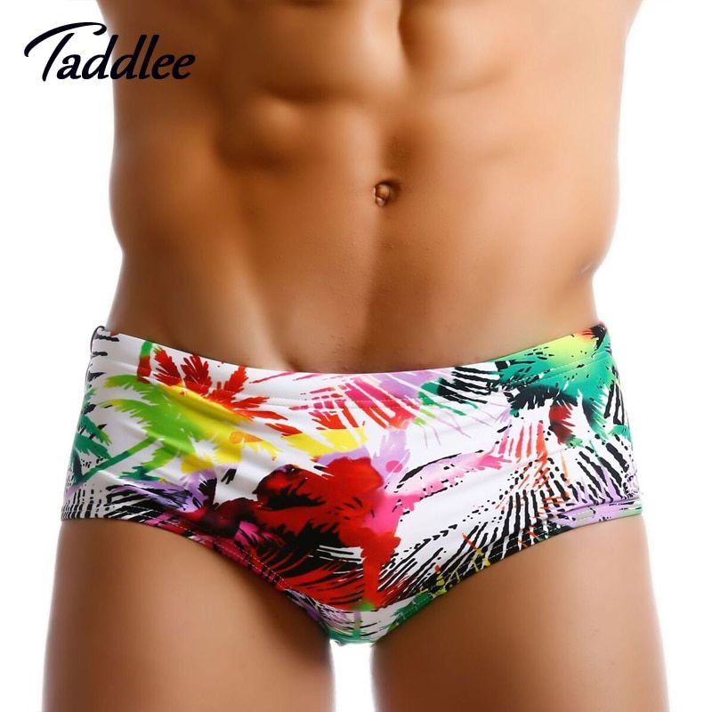 Taddlee Marque Hommes Maillot De Bain Brésilien Classi Cut Maillots de Bain Sexy Hommes Maillots De Bain Natation Surf Conseil Taille Basse Boxers Trunks Gay