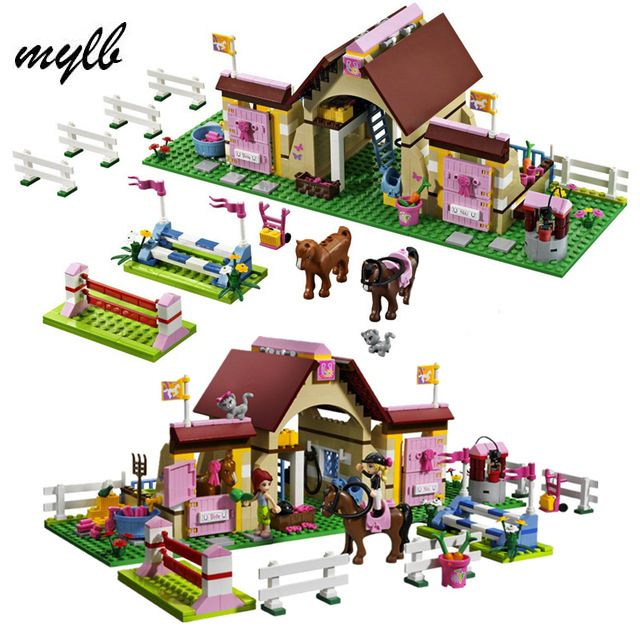 Mylb amis Heartlake écuries filles Mia's ferme blocs de construction 400 briques de pièces/ensemble jouets jouets éducatifs cadeaux livraison directe