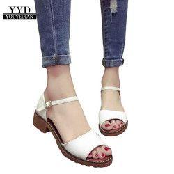 YOUYEDIAN mujeres verano señora sandalias dulces planos cómodos zapatos playa Flip Flops sandalias botines mujer 2018 #2