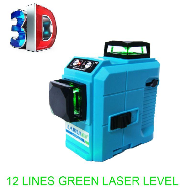 Professional 12 Line red 3D laser level 360 Vertical And Horizontal Laser Level Self-<font><b>leveling</b></font> Cross Line 3D Laser Level
