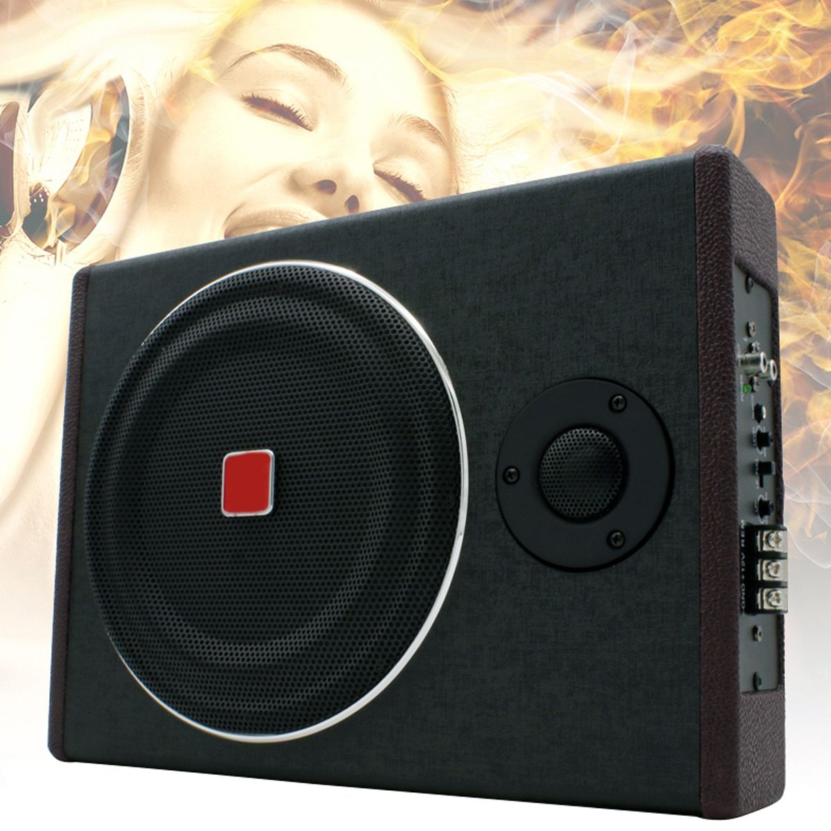 8Inch 600W Active Under Seat Car Subwoofer Speaker Stereo Power Amplifier Subwoofer Car Audio Speaker Stereo