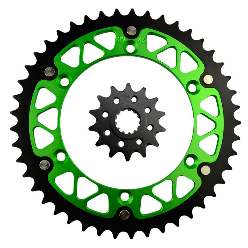 14 / 45 46 47 48 49 51 52 T Motorcycle Front and Rear Sprocket Kit for KAWASAKI KLX 450 KLX450R 2007-2014 KX450F 2006-2014