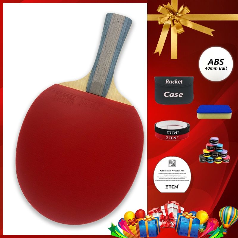 ZTON 7 <font><b>stars</b></font> Table tennis racket Ddouble Pimples-in rubber Ping Pong Racket tenis de mesa table tennis