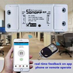 Sonoff Wifi Wireless Universal Switch Smart Home Automation Module Timer Diy Switch Remote Controller Via iOS Android 10A/2200W