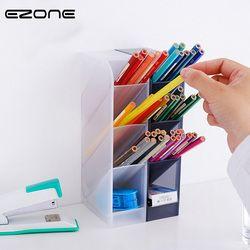 EZONE 4 Grilles Porte-Stylo Crayon Cas Noir Blanc Simple Style Stylo Boîte Boîte De Rangement De Bureau Papeterie École Fournitures de Bureau cadeau