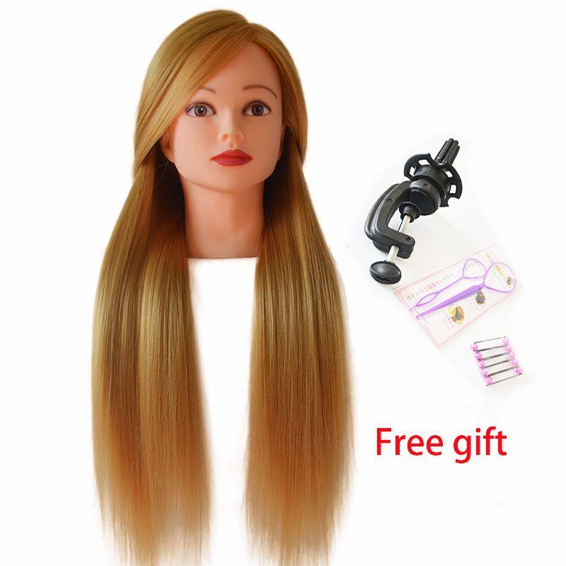 Offre spéciale coiffure poupées tête pour tresser cheveux blonds Mannequin tête coiffure perruque tête femelle coiffure formation tête