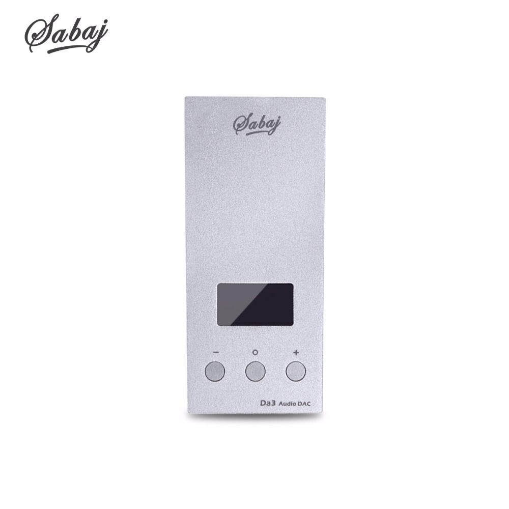 SABAJ Da3 Tiny DAC/Amplifier Hifi HI-Res Headphone Amplifier Portable USB DAC Screen Balanced Output Native DSD512 32bit/768kHz