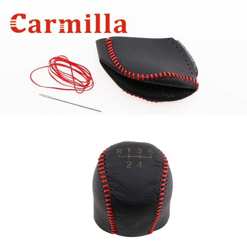 Carmilla Leather Gear Head Shift Knob Cover Handball Covers Case for Chevrolet Chevy Cruze 2009 - 2013 MT Modified Accessories