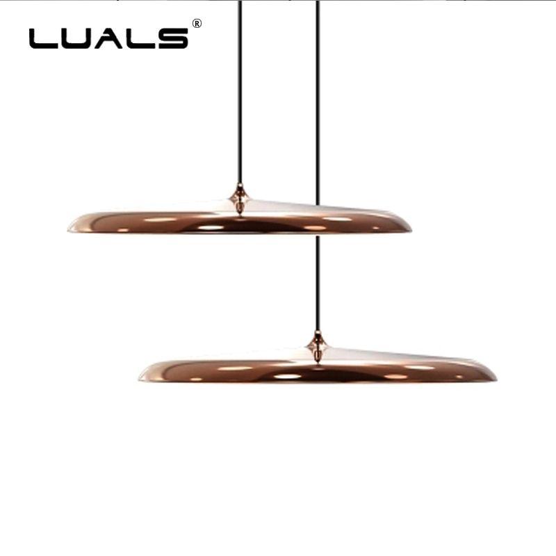 New Modern Pendant Lamp Minimalist dinning Room Lights Led Hanging Light Metal Plating Suspension Luminaire Art Deco Lighting