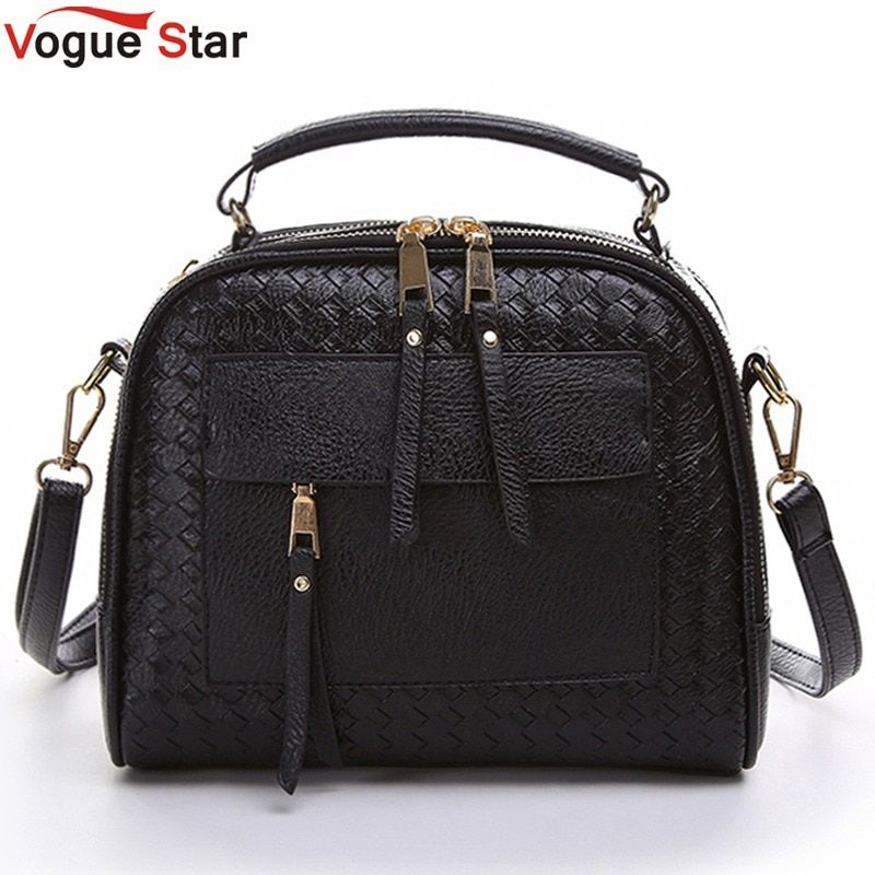 Vogue Star 2018 New Arrival Knitting Women Handbag Fashion Weave Shoulder Bags Small Casual Cross Body Messenger Bag Totes LA451