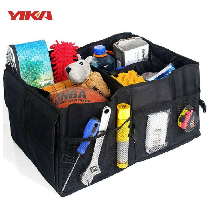 2017 Hot Car Stowing Tidying Auto Accessories Back Folding Storage Box Multi-Use Tools Organizer Car Portable Storage Bags Black