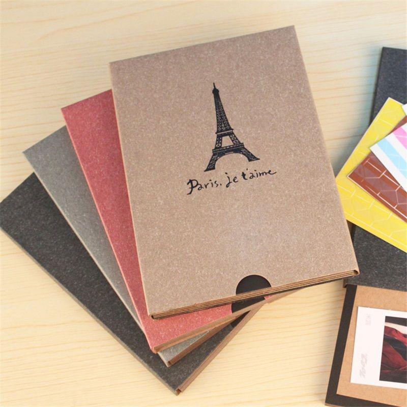 DIY Photo À La Main Album Mémoire Dossier Album Album Artisanat Papier Photo Albums pour le Mariage Bébé Image Cadeau D'anniversaire Album