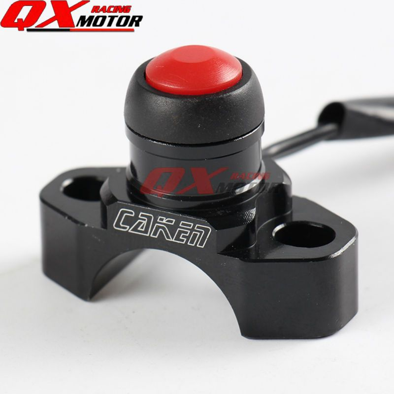 CNC Stop Button Kill Switch For CRF YZF KXF EXC Dirt Pit Bike MX Motocross Enduro Supermoto Off Road Motorcycle Free Shipping