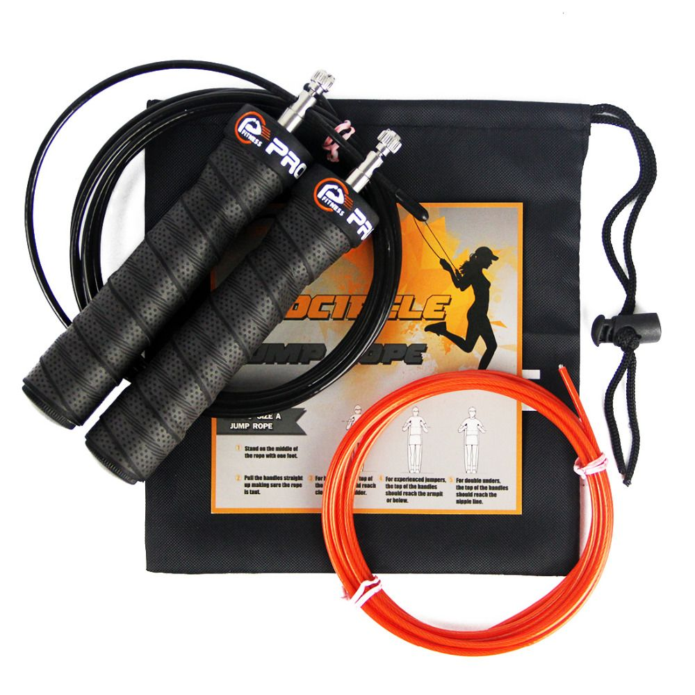 Fitness <font><b>Jump</b></font> Rope Professional Training Adjustable Cable High Speed Skipping Ropes Rapid Ball Bearings