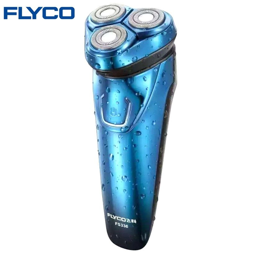 Горячие Flyco моющийся Перезаряжаемые поворотный Для мужчин электробритва Бритвы с 3D плавающие головки 1 час Quick Charge удаления волос fs336