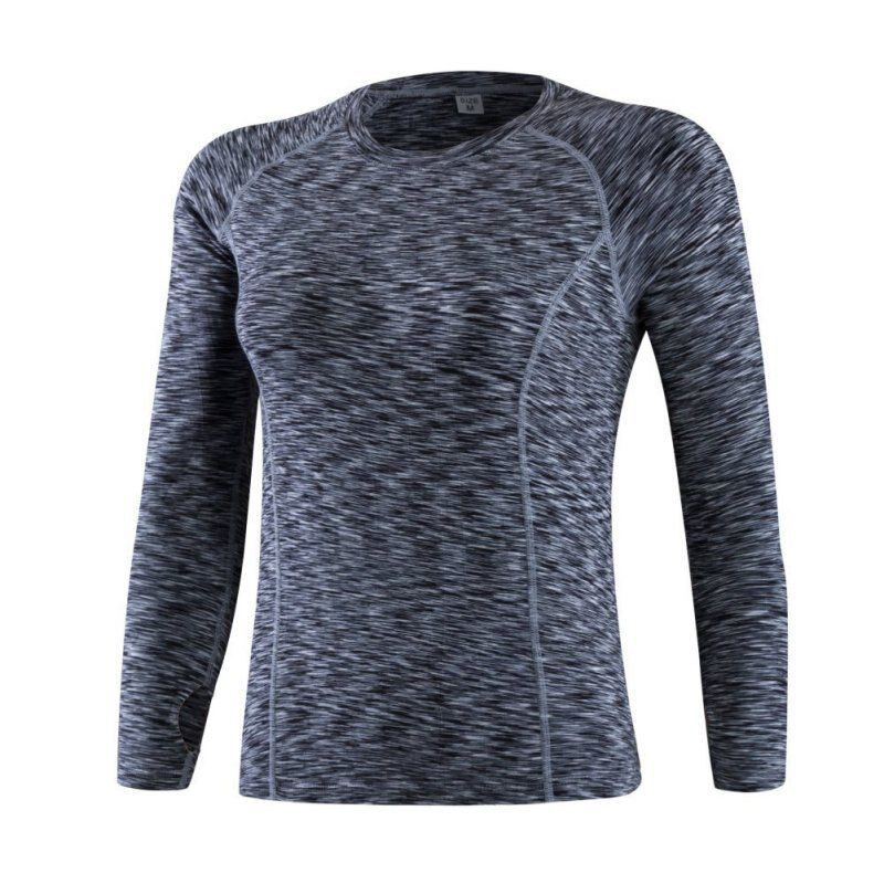 Frauen fitness running sport stretch t-shirt langarm quick dry tees jogging yoga übungen sportlich tops