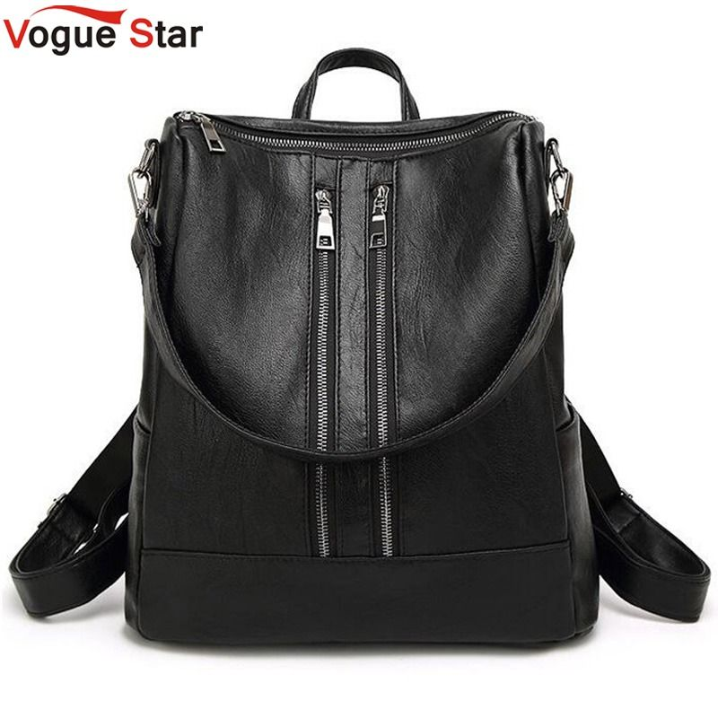 Women Backpack New Arrival Spring Women Backpack Simple Casual School Bag Medium Size Leather Backpack Girl's Daily Bag  LB82
