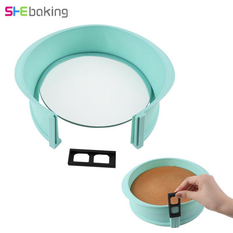Moule à ressort en Silicone pour pâtisserie 1 pc avec Base en verre moule à muffins au chocolat pour gâteau Fondant 3D Sugarcraft moule à pâtisserie bricolage