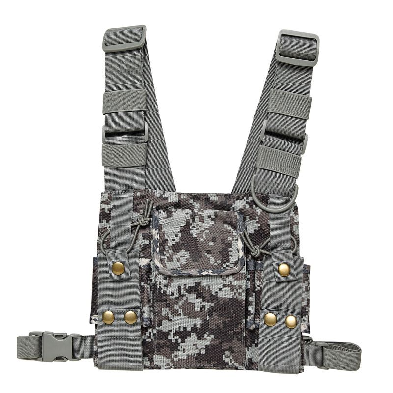 Nylon Universal Radio Pouch Chest Pack Pocket Bag Holder Carry Case for For Baofeng UV-5R UV-82 BF-888S GT-3 Walkie Talkie