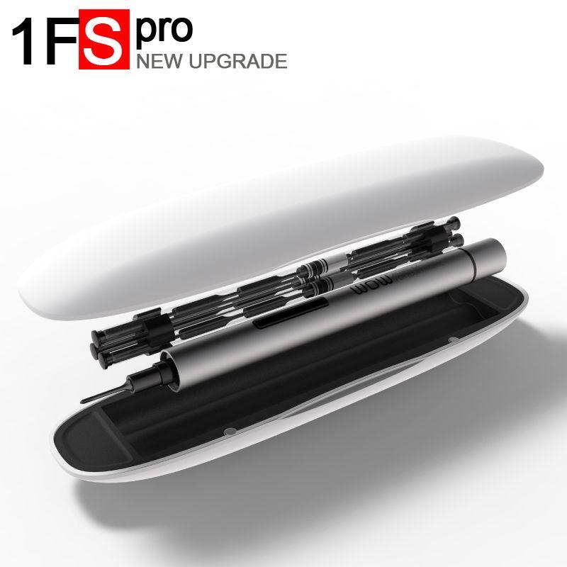 Wowstick 1 p 1FS pro mini tournevis électrique sans fil de précision avec 2 batteries pour batterie outils de réparation de caméra de téléphone portable