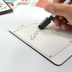 YIBAI pizarra magnética modelo de teléfono tablero blanco, uso para dibujo y grabación para nevera con el regalo libre