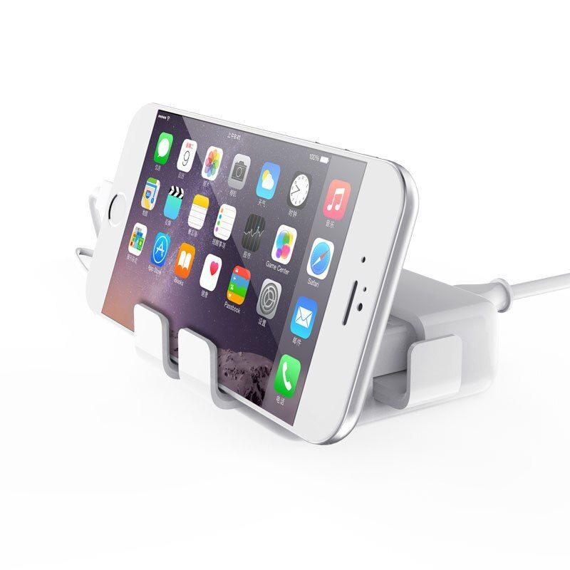 Go2linK 4 USB Phone Chargers Certified Quick Charge 2.0 20W Fast USB charger Smart IC QC2.0 For Smartphone with Phone Bracket