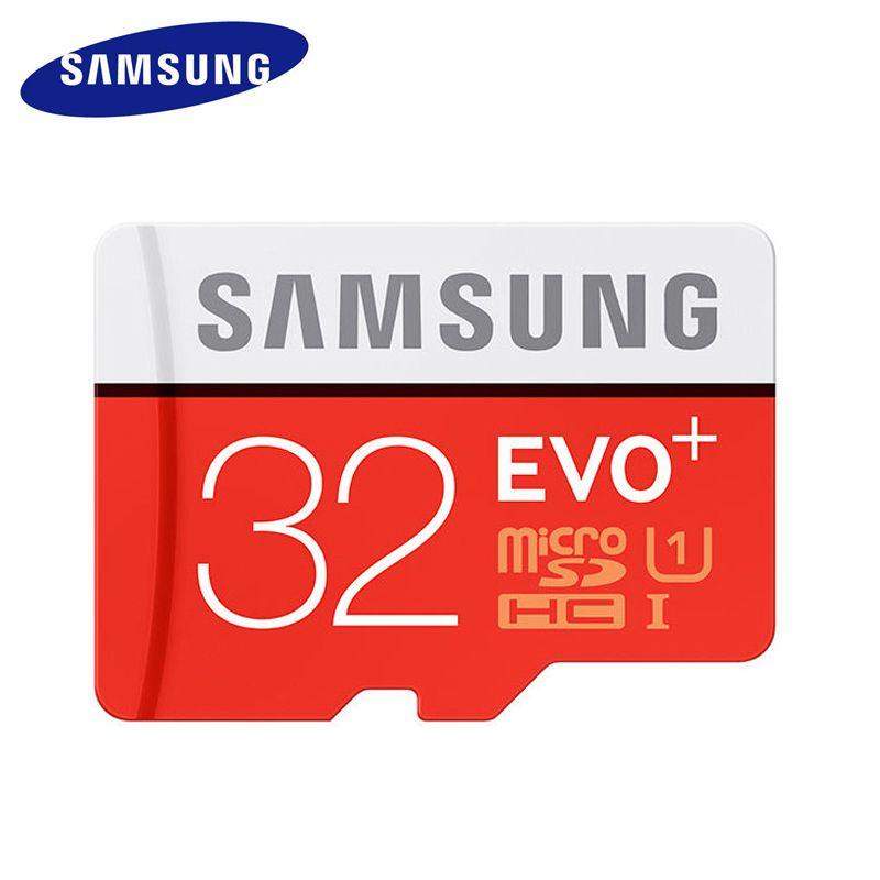 Carte mémoire d'origine SAMSUNG Micro SD EVO Plus 32 GB Class10 TF carte C10 SDHC/SDXC UHS-I pour Smartphone Huawei P8 p9 p10