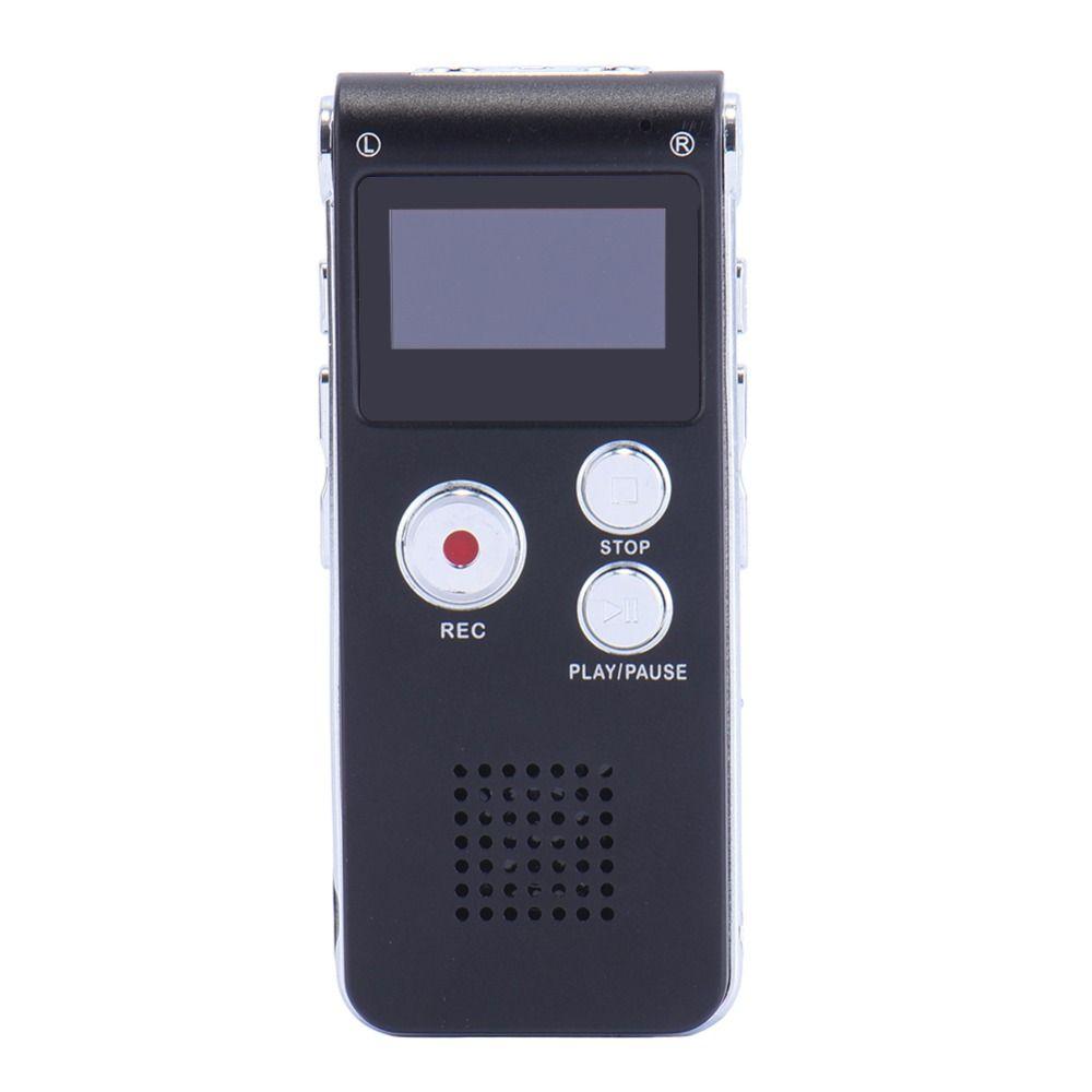 Mini enregistreur Audio numérique USB Rechargeable 8 GB enregistreur vocal 650Hr Dictaphone Dictaphone lecteur MP3 couleur noire